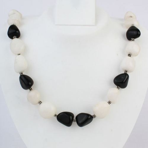 B&w Show-stopper Necklace