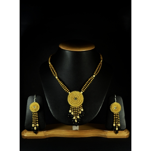 Bundled Joy - Sunny Streaks Necklace Set-by Jungle Jewels
