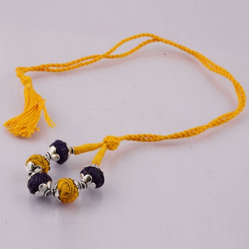 Yellow Sutra Necklace