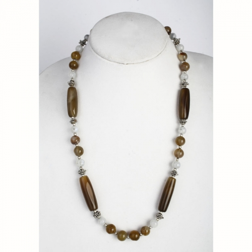 Brown Calcidonia Necklace