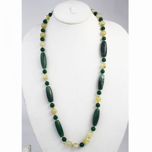 Green And Yellow Stone Necklace