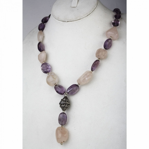 Cool Pink And Purple Necklace