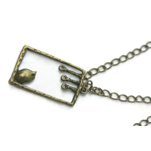 Bird In Cage Necklace-champaqali