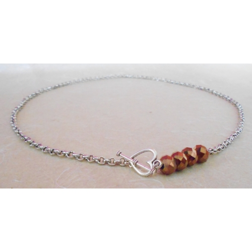 Brown Heart Lock Necklace