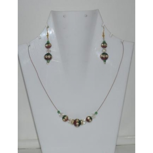Oppulence - Green & Red Necklace Set