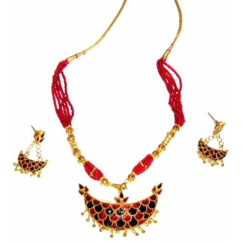 Ethnic Handmade Indian Assamese Gold Jewellery - Junbiri Big