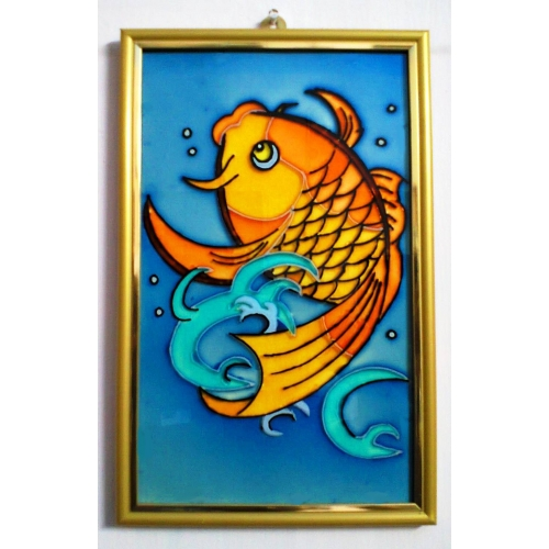 Buy A Golden Fish In Glass Painting Online Craftsvilla