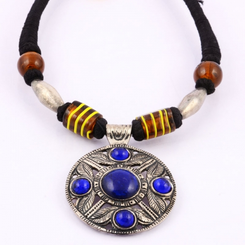 Silver Blue Necklace