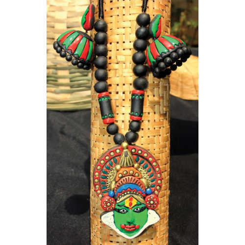 Terracotta Jewellery Set With Earings-kathakali  - Online Shopping For Jewellery Sets By Indulgence