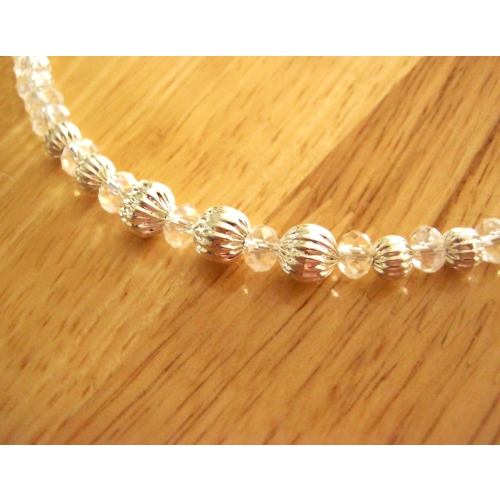 Shinny White Crystal Necklace Sets