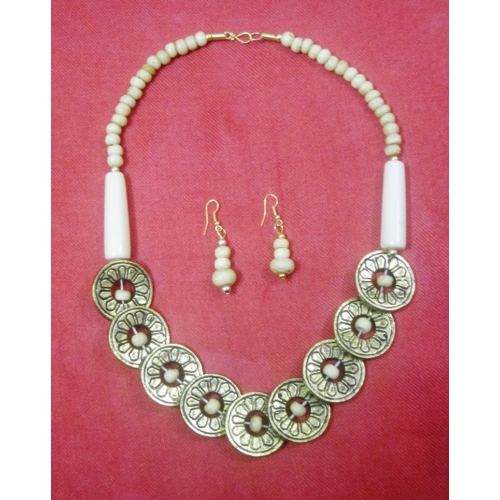 White Coin Style Necklace - Elegant Elements
