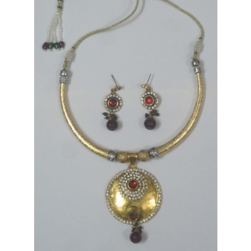 Elegant Hasli Style Necklace, Deep Purple - Indian Bridal Wear Collection