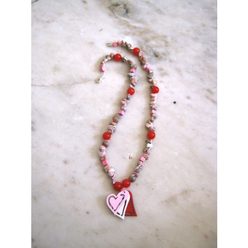 Pretty Red & Pink Necklace