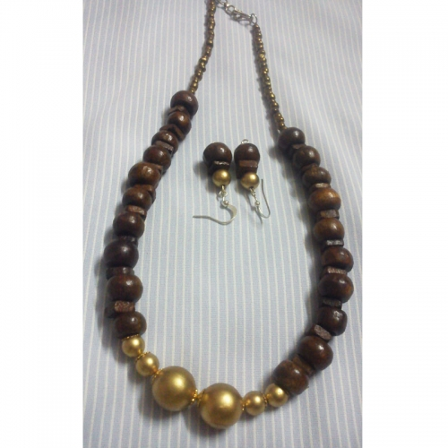 Wooden Beads Necklace - Cute Pearls