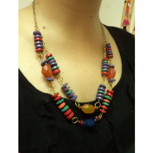 Double Strand Necklace Set  -aliff Lailaa