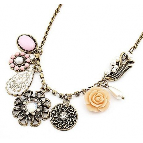 Flower Alloy Necklace