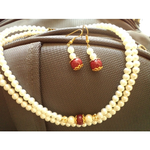 Pearl Necklace Set-aliff Lailaa