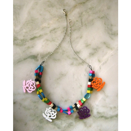Wooden Charms Necklace